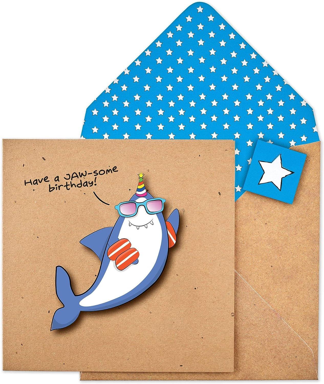 Shark Handmade Greeting Card