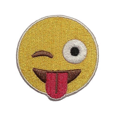 Parche de velcro para planchar, emoji, parches de velcro para mochilas, sombreros,