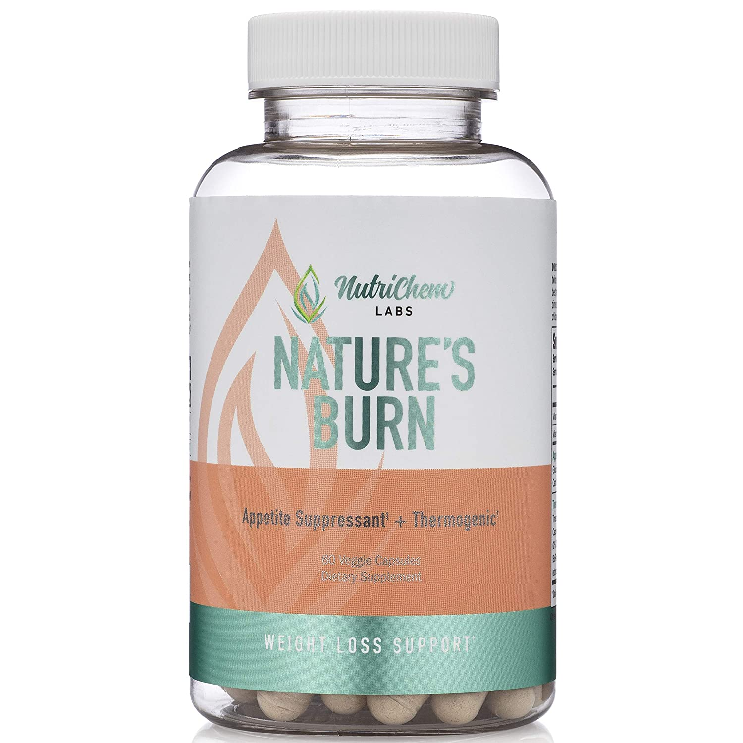 NATURE S BURN – Vegan Fat Burner, Thermogenic and Clean Energy Nootropic with TeaCrine Capsimax – 60 Count – Caffeine Free