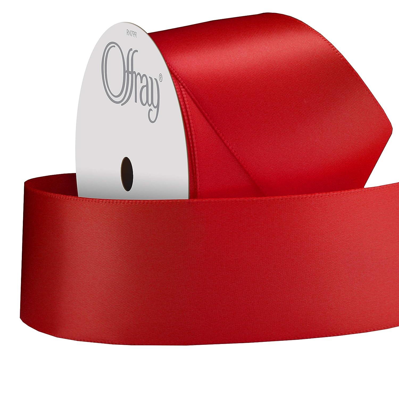 Kiwi Offray 475928 Single Face Satin Craft Ribbon 1 1//2 x 12