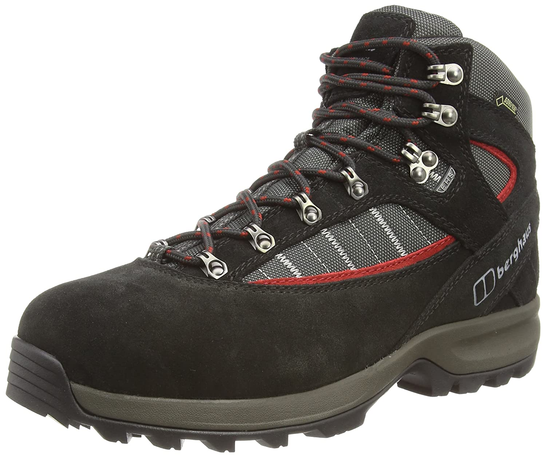 Noir (noir Nova rouge V33) 47 EU Berghaus Explorer Trek Plus GTX, Chaussures de Randonnée Hautes Homme