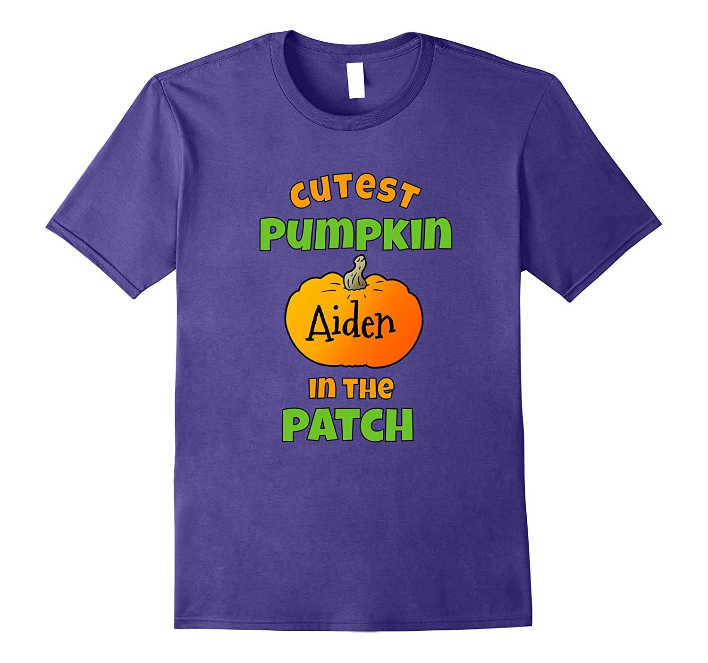 Cutest Pumpkin In The Patch Aiden Halloween T-Shirt-T-Shirt