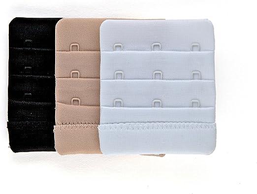 1 x 1 Hook White 1 Hook Bra Extension Strap - WHITE 19mm Bra Extender