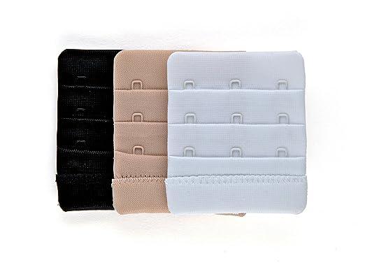 Extender | Extensión para sujetador | Alargador del cierre del sujetador con 3 corchetes | 3 piezas: Amazon.es: Ropa y accesorios