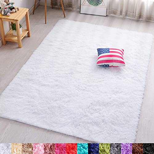 PAGISOFE Soft Comfy White Area Rug
