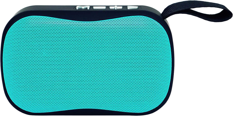 Elbe Alt-A30-BT - Altavoz Bluetooth Mini con Función Manos Libros, Altavoz Compacto, Radio Autoscan, USB Micro SD, Batería Litio Recargable 300 Mah, Color Azul