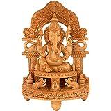 Collectible India Ganesh Ganpati Idol Showpiece Figurine Wooden Sculpture Ganesha Diwali Gifts