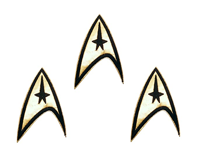 Amazon Star Trek Series Command Insignia Iron On Patch Set Of 3
