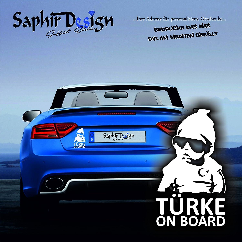 T/ürkiye T/ürke on board A140 Farbe Weiss Sehr Coole Autoaufkleber 10x17cm AyYildiz