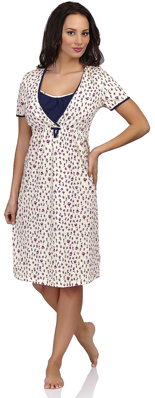 Be Mammy Damen Stillnachthemd T5LP2-KR