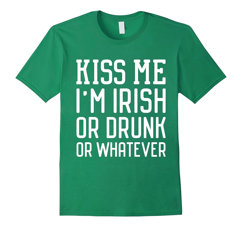 d06149ca8f Black Cactus Print T-Shirt-TD. Kiss Me Im Irish - Funny St Patricks Day T- Shirts-TD