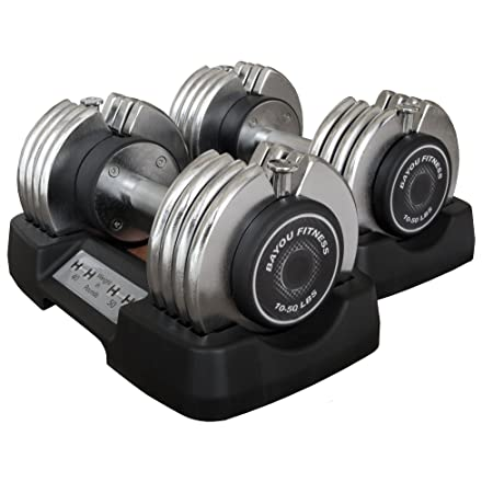 Bayou Fitness Adjustable Dumbbell Strength Training Equipment at amazon
