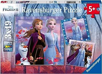 Ravensburger - Puzzle Frozen 2, Pack de 3 x 49 piezas (05011 ...