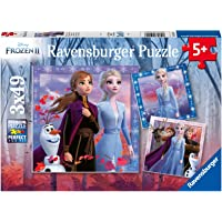 Ravensburger 05011 Disney Frozen 2 - The Journey Starts - 3 X 49 Piece Jigsaw Puzzles for Kids - Vakue Set of 3 Puzzles in a Box - Every Piece is Unique - Pieces Fit Together Perfectly
