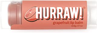 product image for Hurraw! Grapefruit Lip Balm, 4.8g/.17oz: Organic, Certified Vegan, Cruelty and Gluten Free. Non-GMO, 100% Natural Ingredients. Bee, Shea, Soy and Palm Free. Made in USA