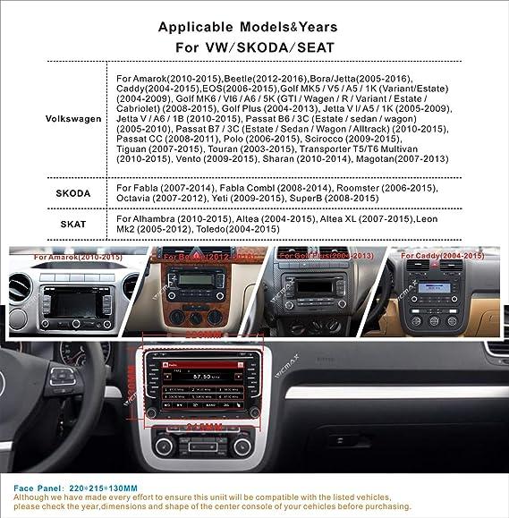 Reproductor de CD y DVD estéreo DAB+ Radio RDS Sat Naval Bluetooth Gps Navegación Pantalla Táctil Espejo para VW Golf MK5 MK6 Skoda Passat Seat Jetta Polo ...