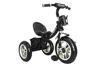 4ffe7000365 LittleBambino RideOn Pedal Tricycle Children Kids Smart Design 3 Wheeler    Black   CE Approved Air