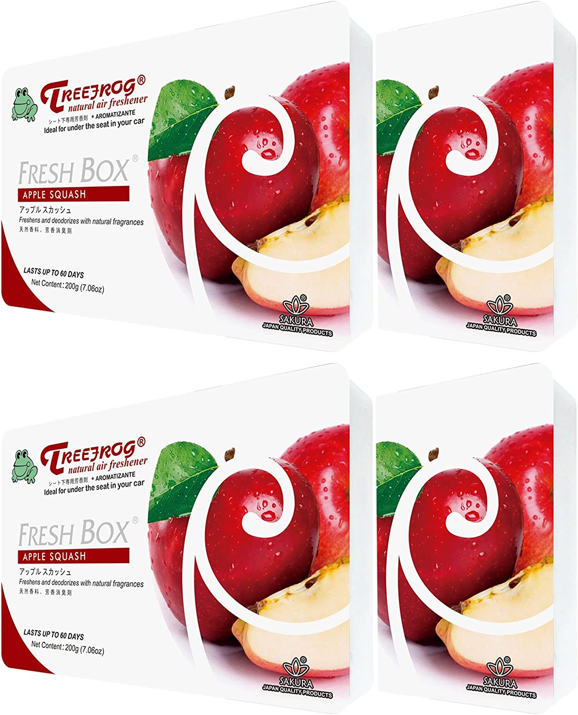 Treefrog Fresh Box Apple Squash Scent 4 Packs, Tree Frog Car Air Freshener