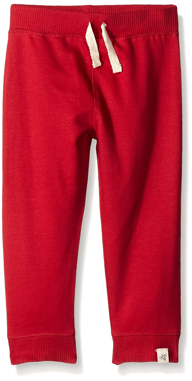Cranberry-12 Months Burts Bees Baby Baby Boys French Terry Sweatpants