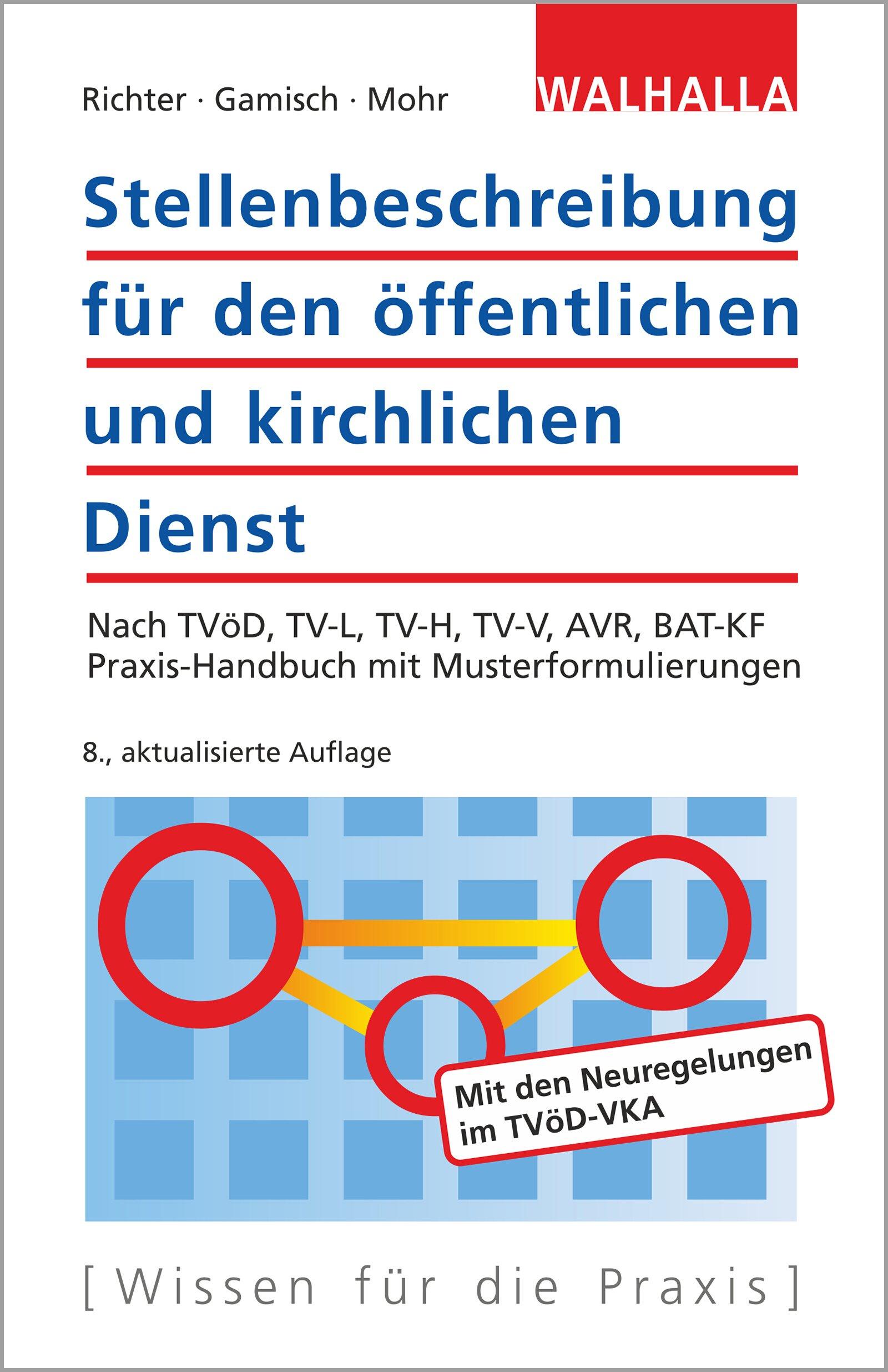 Stellenbeschreibung für den öffentlichen und kirchlichen Dienst: Nach TVöD, TV-L, TV-H, TV-V, AVR, BAT-KF; Praxishandbuch mit Musterformulierungen