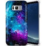 Galaxy S8 Case, ZUSLAB Nebula Design, Slim Shockproof Flexible TPU, Soft Rubber Silicone Skin Cover for Samsung Galaxy S8 (Purple Cosmos Nebula)