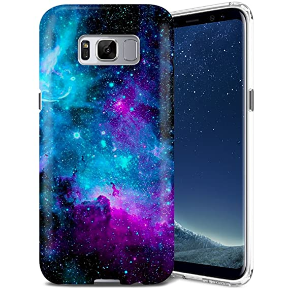 official photos 2fc45 3841d Galaxy S8 Case, ZUSLAB Nebula Design, Slim Shockproof Flexible TPU, Soft  Rubber Silicone Skin Cover for Samsung Galaxy S8 (Purple Cosmos Nebula)