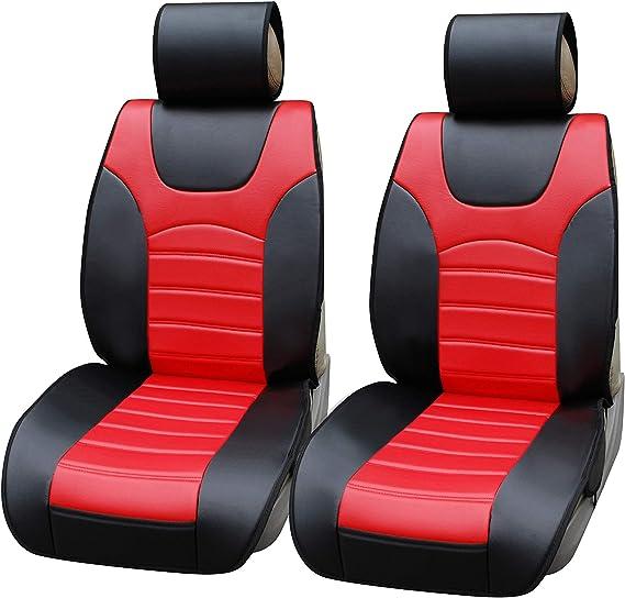 2 x Fronts Ford Fiesta Heavy Duty Black Waterproof Car Seat Covers 2008-13