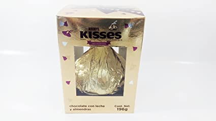 HERSHEYS KISSES GIANT GIFT COLLECTION MILK CHOCOLATE WITH ALMONDS (7oz) Authentic Mexican Candy with