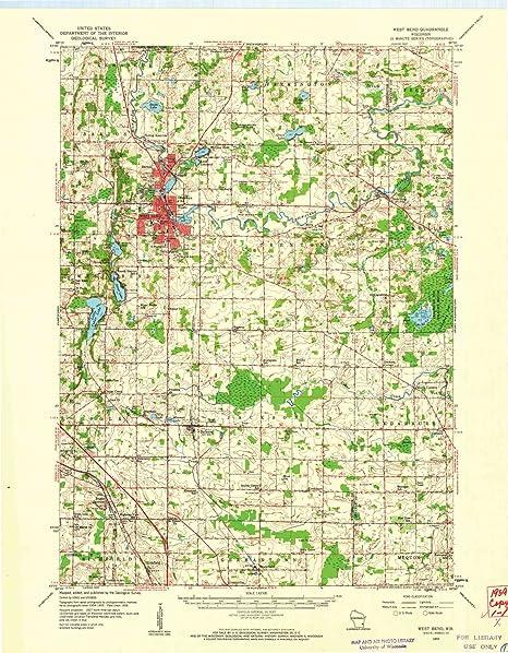 Amazon Com Yellowmaps West Bend Wi Topo Map 1 62500 Scale 15 X 15