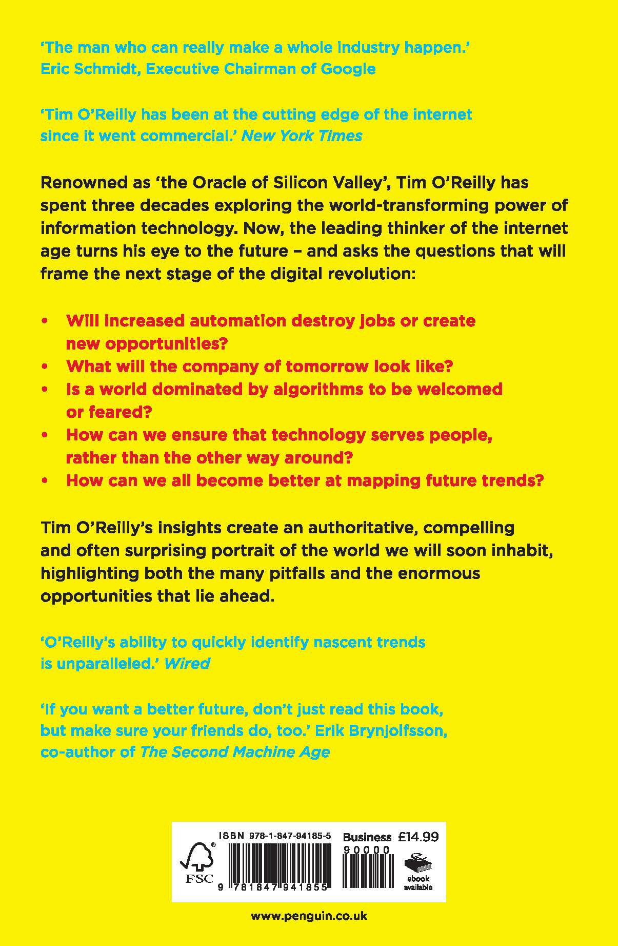 What's the Future and Why It's Up to Us: Amazon.co.uk: Tim O'Reilly:  9781847941855: Books
