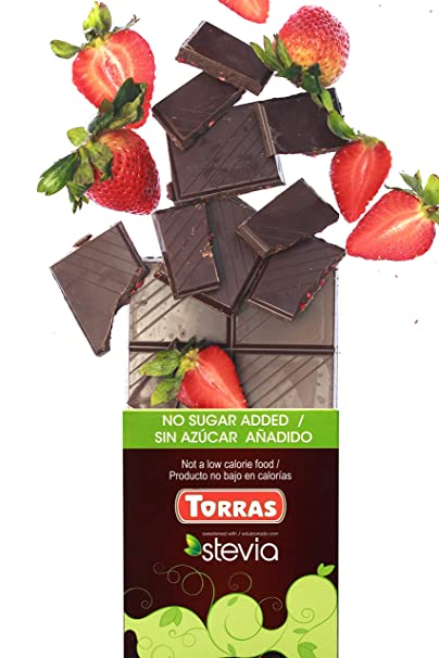 Amazon.com : Torras Stevia Sugar Free and Gluten Free Dark Chocolate Bar - Hazelnuts (3 Pack) : Grocery & Gourmet Food