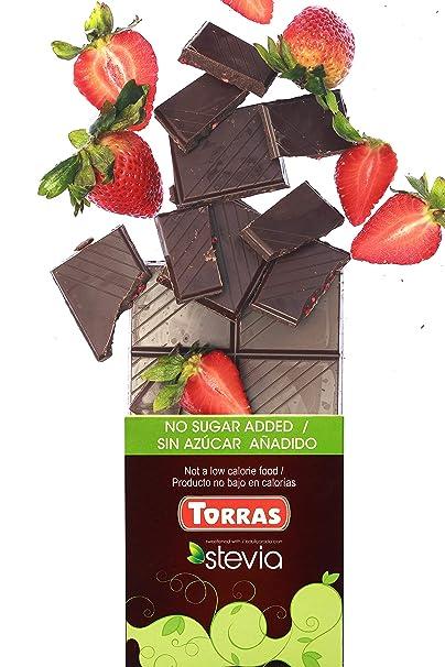 Amazon.com : Torras Stevia Sugar Free and Gluten Free Dark Chocolate Bar - Assorted (3 Pack) : Grocery & Gourmet Food