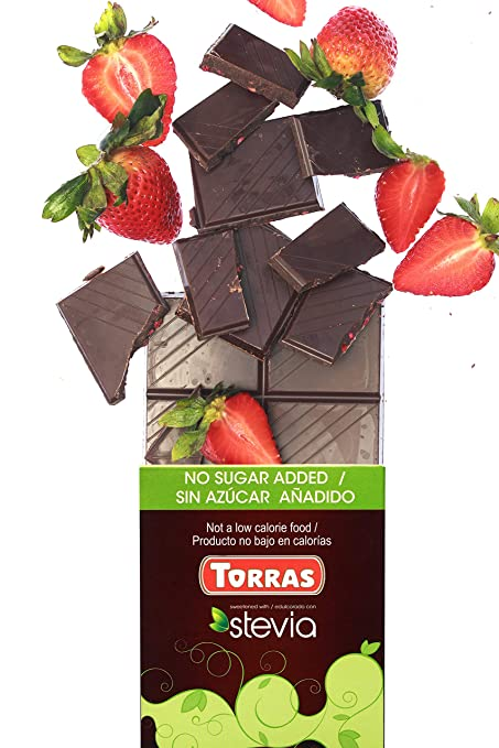 Amazon.com : Torras Stevia Sugar Free and Gluten Free Dark Chocolate Bar - Assorted (3 Pack) : Grocery & Gourmet Food