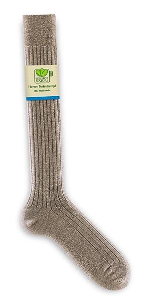 YOU FOR NATURE-Calcetines altos para hombre lana merino BIO beige 40: Amazon.es: Ropa y accesorios