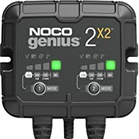 NOCO GENIUS2X2, 2-Bank, 4-Amp (2-Amp Per Bank) Fully-Automatic Smart Charger, 6V And 12V Battery Charger, Battery…