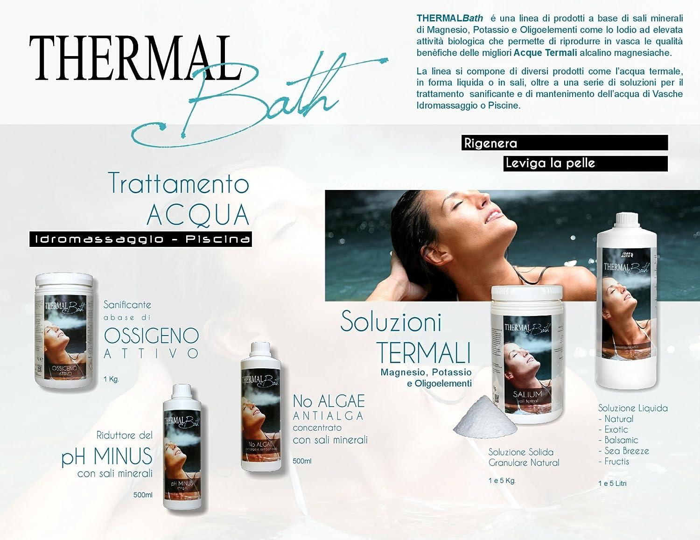 Agua termal para Spa, Jacuzzi y piscinaThermal Bath natural (inodora) 1 litro-: Amazon.es: Jardín