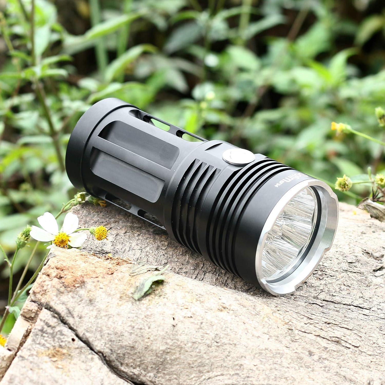 Sofirn - Piccola torcia a LED in acciaio super luminosa, in lega di alluminio, per esterni, con 3 o 18 perline, 18 xT6 lamp beads