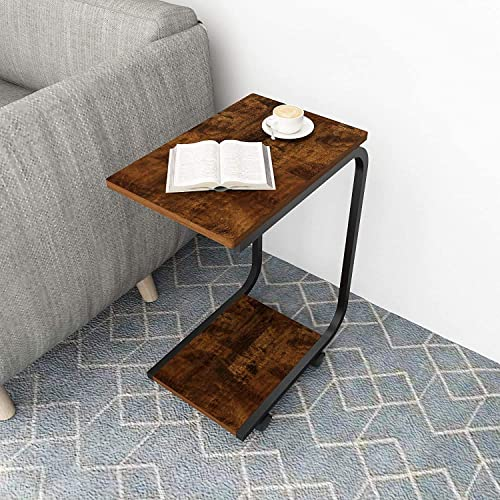 Side Table,Height Adjustable Mobile End Table Couch Table