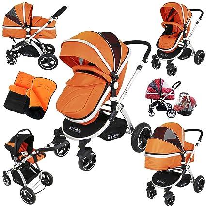 i-Safe sistema – naranja Trio sistema de viaje Cochecito de bebé y silla de