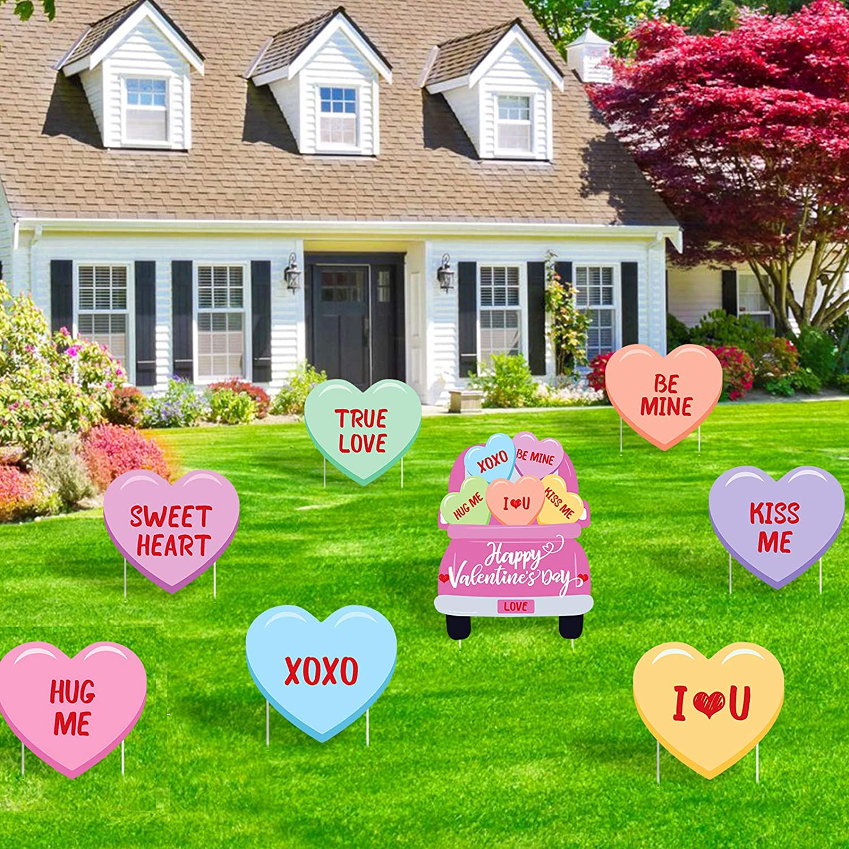 Set of 4 Felt Sweetheart Patties