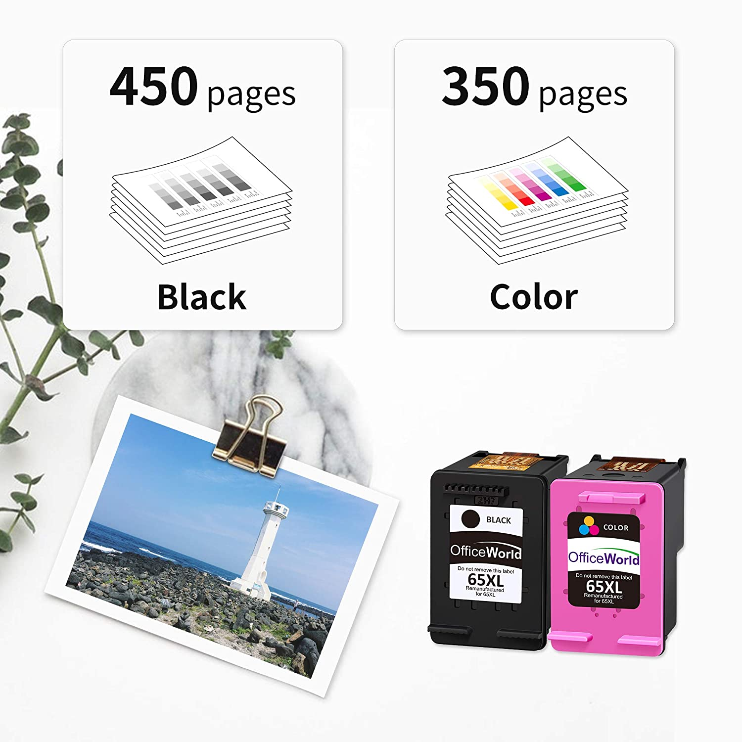 OfficeWorld Re-Manufactured Ink Cartridge Replacement for ...