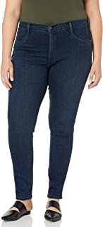 product image for James Jeans Women's Plus-Size High Class Curvy High-Rise Skinny Jean in Cult Rich Dark Blue
