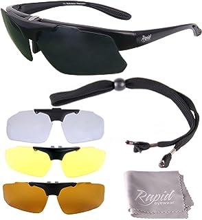 a7d57317c77 Rapid Eyewear Pro Performance Plus Rx Sports Sunglasses Frame with  Interchangeable UV…