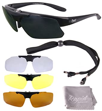 df301e01130 Rapid Eyewear Pro Performance Plus RX SPORTS SUNGLASSES FRAME with  Interchangeable UV Polarized Lenses. For