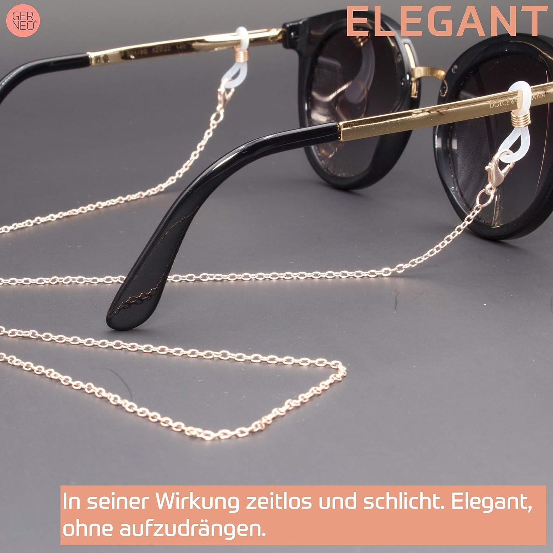 Unisex f/ür Lesebrille /& Sonnenbrille Premium Brillenkette /& Brillenband in Ketten Optik in diversen Farben GERNEO SOMMER KOLLEKTION 2019 DAS ORIGINAL