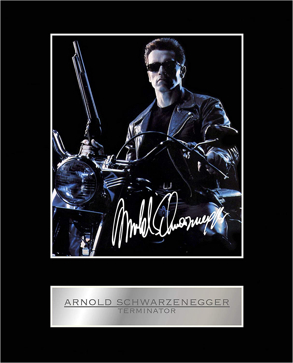 Arnold Schwarzenegger Signed Mounted Photo Display The Terminator #01 Autographed Gift Picture Print