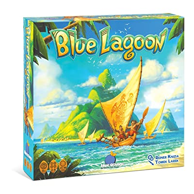 BLUE ORANGE Games Blue Lagoon Strategy Board Game: Toys & Games