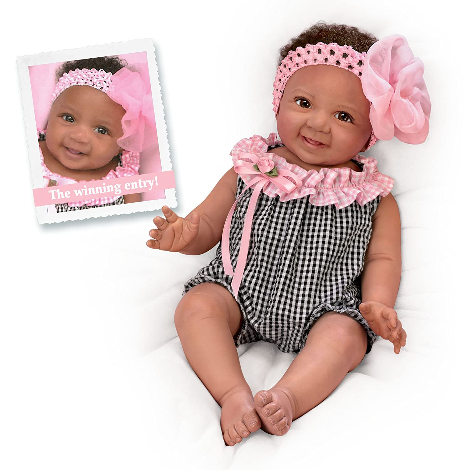 The Ashton - Drake Galleries So Truly Real® Newborn Baby Doll 'Alanna' – Realistic Fully Poseable RealTouch™ Vinyl Skin Lifelike Reborn Baby Doll