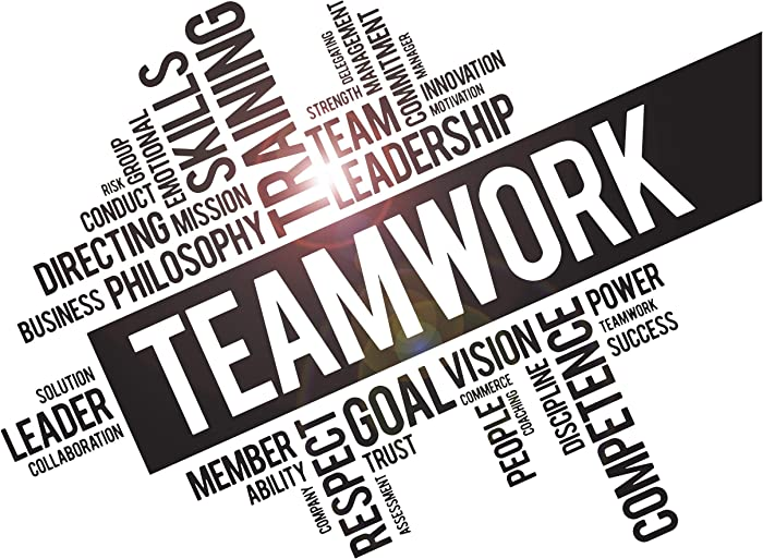 Vinyl Wall Decal Teamwork Success Office Decor Worker Stickers (ig4152) Black