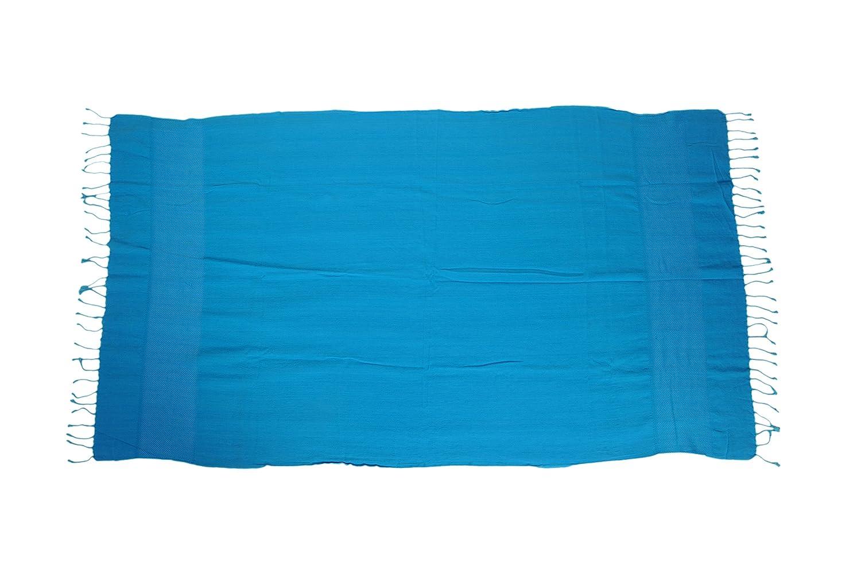 Kess InHouse Victoria Krupp Folcloric Border Blue Abstract 69 x 70 Shower Curtain